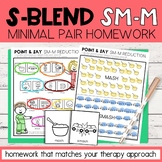 S Blend Cluster Reduction Minimal Pairs Homework | SM-M Wo