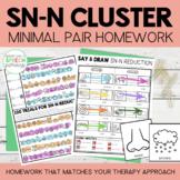S Blend Cluster Reduction Minimal Pairs Homework | SN-N Wo