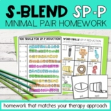 S Blend Cluster Reduction Minimal Pairs Homework | SP-P Wo