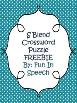 S Blend Crossword Puzzle