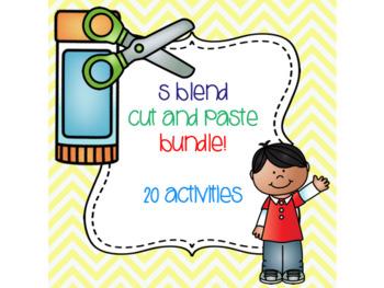 S Blend Cut and Paste Bundle! {20 activities}