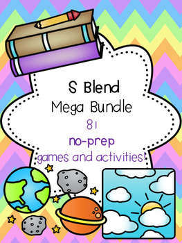 S Blend Mega Bundle! [81 no-prep games and activities]