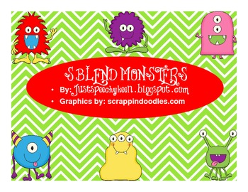 S-Blend Monster Cards With Game Board