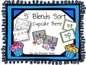 S Blends Cupcake Theme