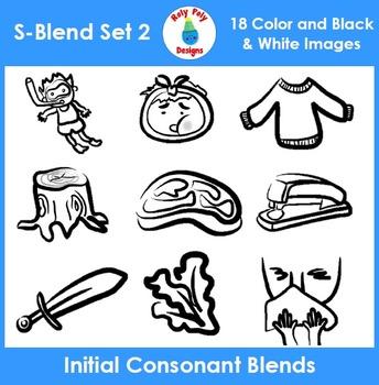 S-Blend Phonics Clip Art Set 2