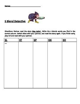 S Blend Phonics Partner Reading Game