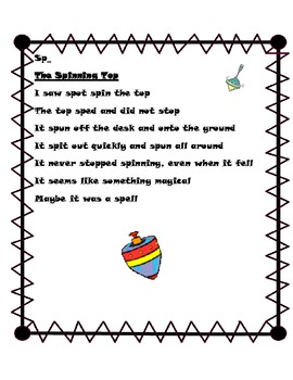 S Blend Poems for Phonics or Word Study