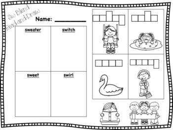 S Blend Read-and-Draw Bundle! {16 activities}