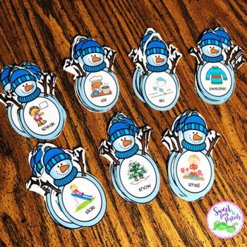 S-Blend Snowmen Articulation Flashcards