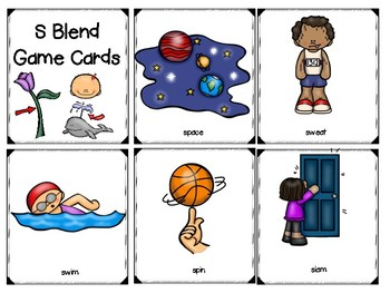 S Blend Speech Activity Printables