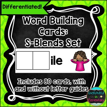S-Blend Word Building Cards- Differentiated Literacy Center