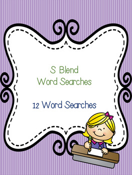 S Blend Word Search Bundle! (12 word searches)