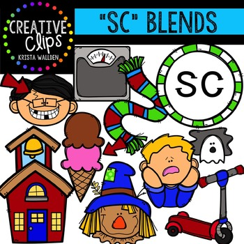 S-Blend Words: SC {Creative Clips Digital Clipart}