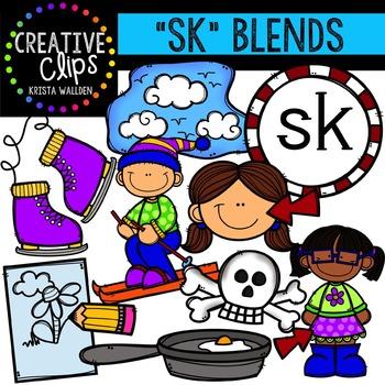 S-Blend Words: SK {Creative Clips Digital Clipart}
