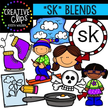 S-Blend Words: SK {Creative Clips Digital Clipart}