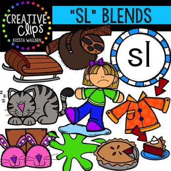 S-Blend Words: SL {Creative Clips Digital Clipart}