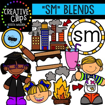 S-Blend Words: SM {Creative Clips Digital Clipart}