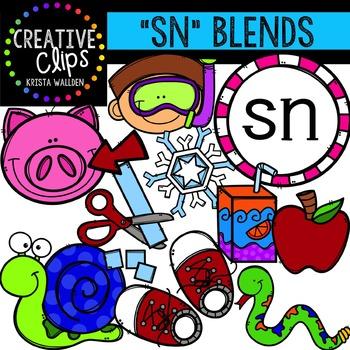 S-Blend Words: SN {Creative Clips Digital Clipart}