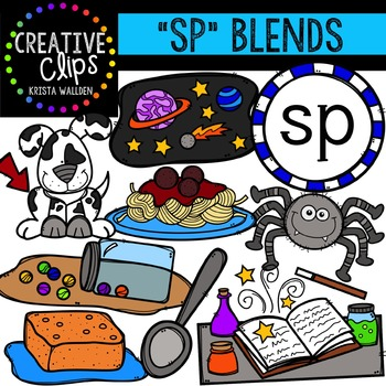 S-Blend Words: SP {Creative Clips Digital Clipart}