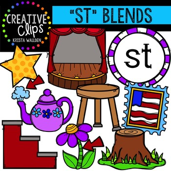 S-Blend Words: ST {Creative Clips Digital Clipart}