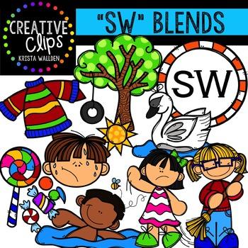S-Blend Words: SW {Creative Clips Digital Clipart}