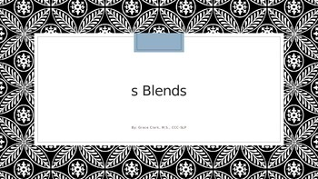 S Blend Words with Audio PowerPoint