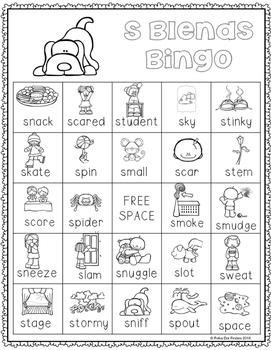 S Blends Bingo {FREEBIE}