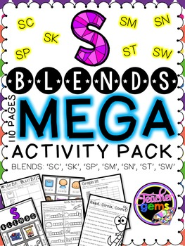 S Blends MEGA Activity Pack - sc, sk, sm, sn, sp, st, sw