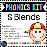 S Blends Activities | Blend Centers for Phonics Center 1st Grade