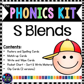 S Blends Activities | Blend Centers for Phonics Center 1st Grade