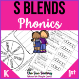 S Blend Activities and Worksheets First Grade
