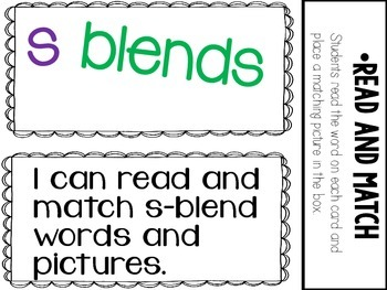 S Blends- 5 Interactive Activities