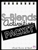 S-Blends Activities Packet