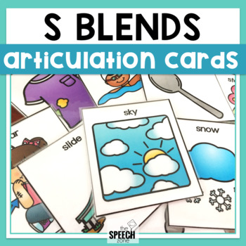 S Blends Articulation Cards