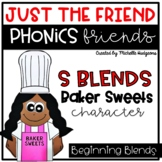 S Blends Beginning Blends Craftivity, Phonics Friends Just