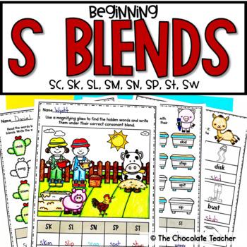 S Blends Beginning Consonant Blends