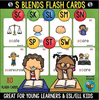 S Blends Flash Cards