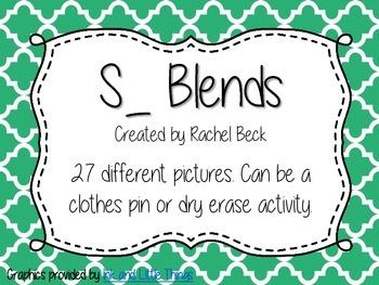 S Blends Clip Activity