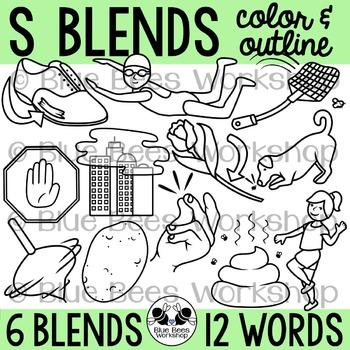 S Blends Clip Art