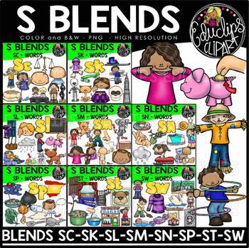 S Blends Clip Art Mega Bundle {Educlips Clipart}