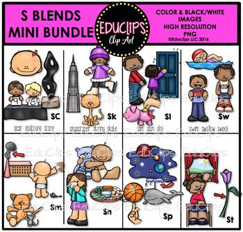S Blends Clip Art Mini Bundle {Educlips Clipart|}