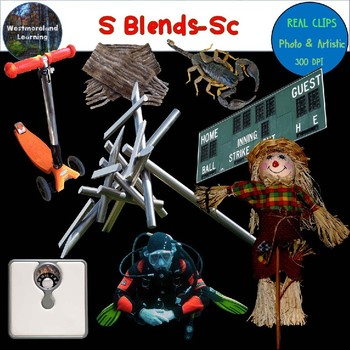 S Blends Clip Art SC Blend Real Clips Digital Stickers Photo & Artistic