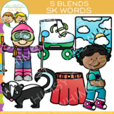 S Blends Clip Art: SK Words Clip Art {Volume One}