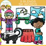 S Blends Clip Art - SK Words - Volume One