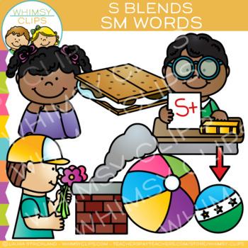 S Blends Clip Art - SM Words - Volume One