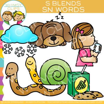 S Blends Clip Art - SN Words - Volume One
