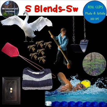 S Blends Clip Art SW Blend Real Clips Digital Stickers Photo & Artistic