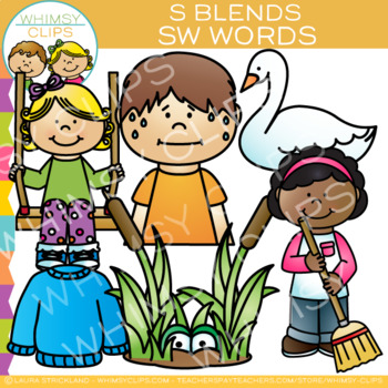 S Blends Clip Art - SW - Words