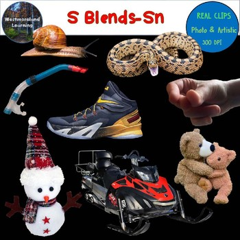 S Blends Clip Art Sn Blend Real Clips Digital Stickers Photo & Artistic