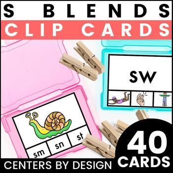 Centers by Design: S Blends Clip Cards {SC, SK, SM, SN, SP, & SW}
